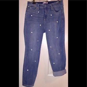 Lauren Conrad - skinny jeans w/daisies - sz 14
